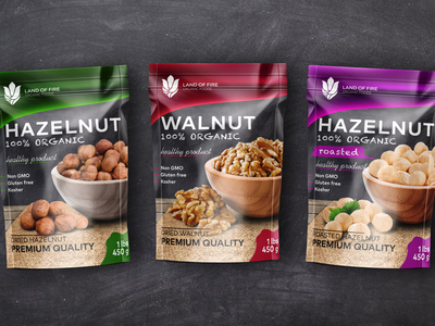 Dried nuts packaging design