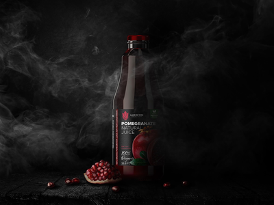 Organic pomegranate juice packaging design