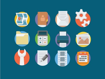 Universal Flat Icons business universal flat icons