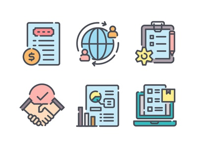 Business Management Icons icons icon management business