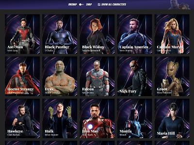Profile Cards #2 marvel profile cards