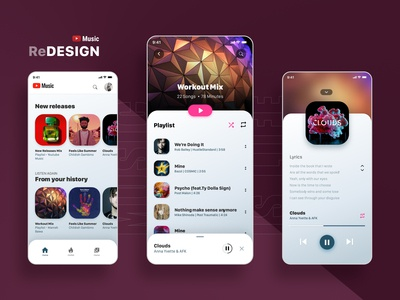 Yotube Music App ReDesign