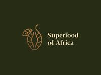 Superfood of Africa luxury creative monoline lineart africa superfood fruit baobab vector illustration logomark typography brand identity mark brand symbol icon logo