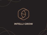 Intelli Grow | Logomark growing horticulture agriculture identity presentation lineart monogram illustration typography brand identity mark brand symbol icon logo logomark