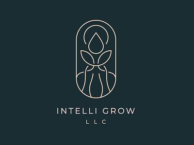 Intelli Grow vector illustration brand symbol logomark badge monoline lineart creative minimal horticulture agriculture growers