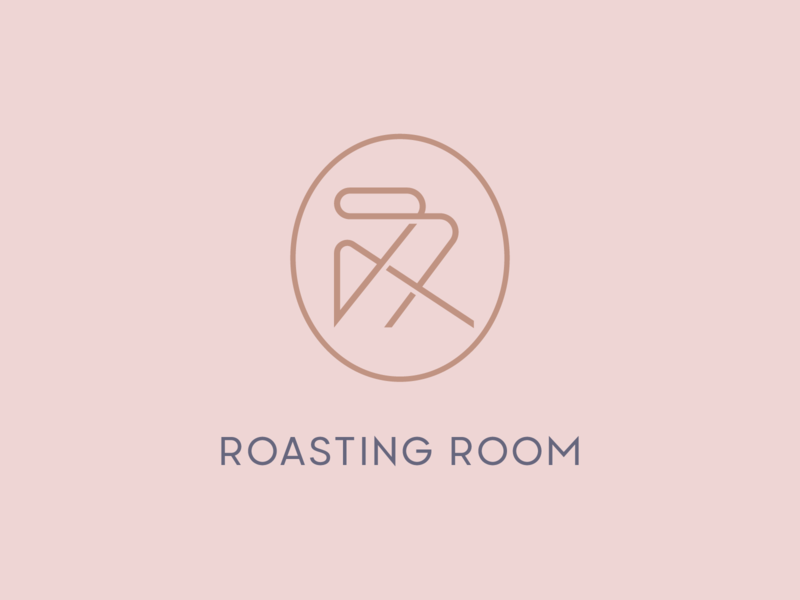 Roasting Room | Monogram coffee roastery roasting rr monoline lineart monogram vector logomark typography brand identity mark brand symbol icon logo