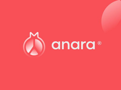 Anara   Logomark fruit pomegranate developers software modern futuristic vector logomark typography brand identity mark brand symbol icon logo