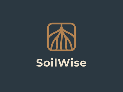 Soilwise | Logomark soil roots yield horticulture agriculture logomark typography brand identity mark brand symbol icon logo