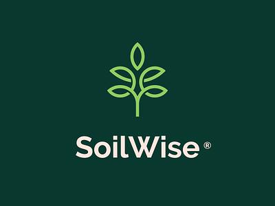 Soilwise | Logomark mark brand flat horticulture agriculture soil plant lineart minimal symbol icon logo