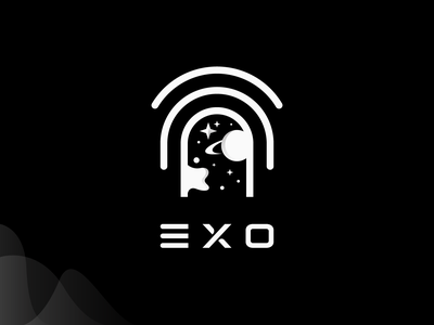 Exo   Logomark space creative astro books comic logomark typography brand identity mark brand symbol icon logo