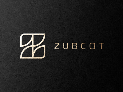 Zubcot   Lettermark luxury wear clothing brand apparel minimal lineart vector logomark typography brand identity mark brand symbol icon logo