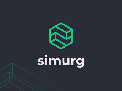 Simurg   Logomark rods brass shapes metallurgy hexagon lineart vector logomark typography brand identity mark brand symbol icon logo