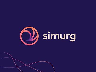 Simurg   Logomark abstract metallurgy phoenix fiery futuristic gradients lineart vector logomark mark brand symbol icon logo