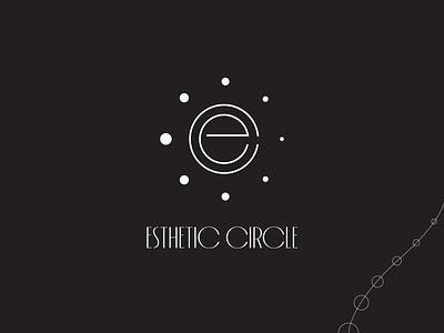 Esthetic Circle   Logomark pearls ec brand identity branding beauty photography fashion plastic surgery esthetic dentistry lettermark lineart illustration typography mark brand symbol icon logo