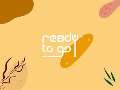 Ready To Go flora coffee to go takeaway delivery food app customized logotype minimal lineart vector typography brand identity mark brand symbol icon logo