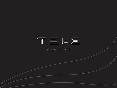 Tele Projekt logotype modern futuristic interface telecommunication typography brand identity mark brand symbol icon logo