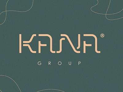 KANA GROUP | Logotype brand identity minimal plastic surgery make up original authentic logotype custom typography logo design cafe medical beauty beauty salon