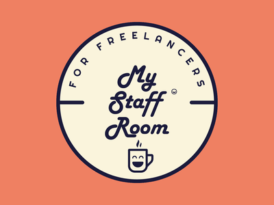 My Staff Room | Badge Logo vector typography brand identity office outings meet up independent worker break freelance badge designs fun approachable warm minimal friendly logo badge