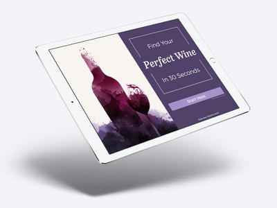 Sommie: wine app search illustration red purple glass bottle screen ux design ui app wine