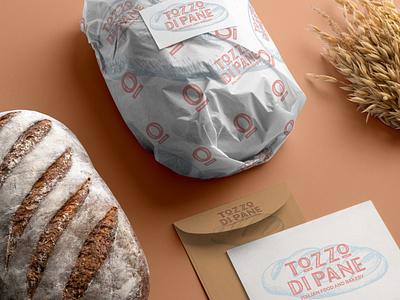 Tozzo di Pane - Italian food and Bakery food pack packaging food logo logodesign branding simone checchia blue orange bakerylogo bread logo bakery bread pane tozzo tozzodipane
