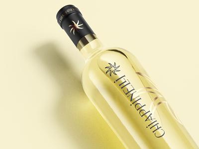 Chiappinelli Wine simone checchia blue orange packaging label design labeldesign label logo winery wine bottle wine glass wine label wine logo wine