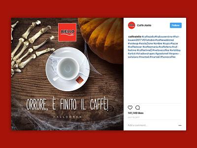 Caffè Aiello - Halloween 2016 copywriter photoshop compositing horror red social media advertising social coffee halloween