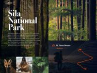 NTUR - Homepage green mountains trekking explore nature homepage webdesign uiux ux ui sila