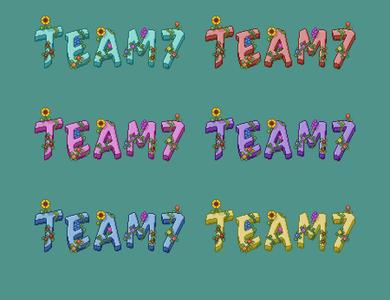 Pixel art merch design for gaming organisation 'Team 7' branding tshirts tshirt clothing merchandise design apparel design apparel merchandise merch logo design pixel art art pixel