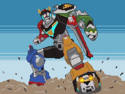 Pixel Art: Voltron Legendary Defender