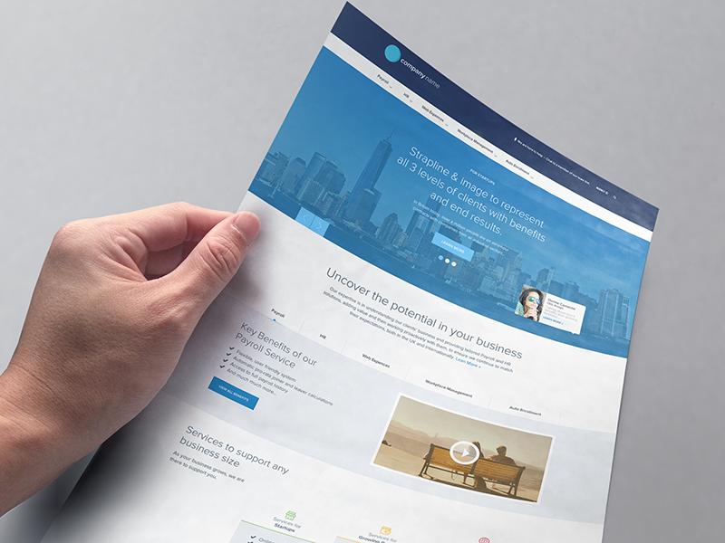 SaaS Website Design homepage website design flat clean creative business ux ui modern photo