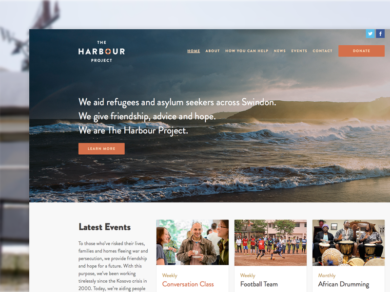 The Harbour Project Website website design identity visuals brand photo asksanik harbour project
