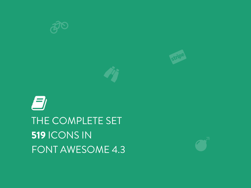 The Complete Set 519 Icons In Font Awesome 4 3 For Sketch By Sasha On Dribbble