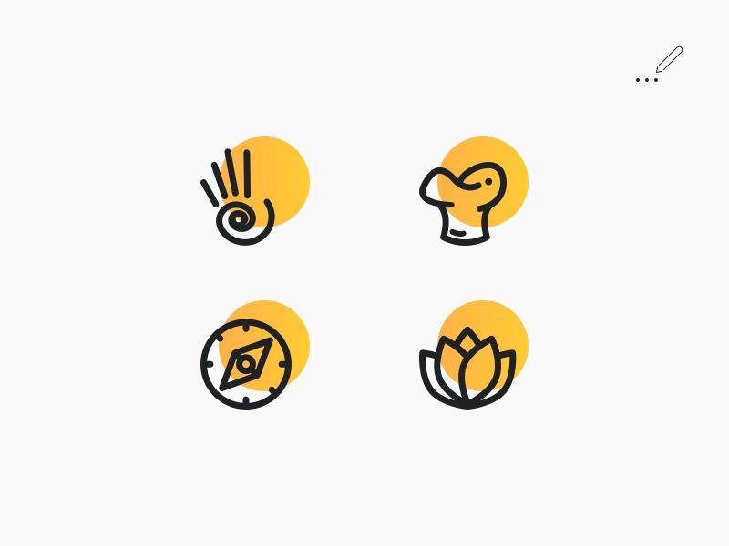 Application Iconography Design design line line art soft iconography icons icon web ios app