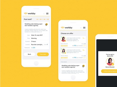 Worbby Web App UI Design - Post a Task User Flow 2
