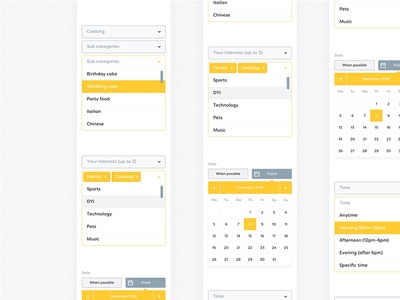 Worbby Mobile App Forms UI