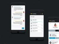 Worbby Web App UI Design - Communications