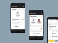 Worbby Web App UI Design - Task Flow