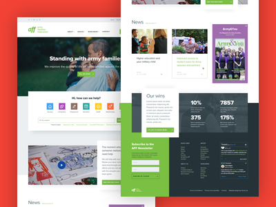 Website Design Jamming charity army blue and yellow design website ux ui web design homepage handsup family