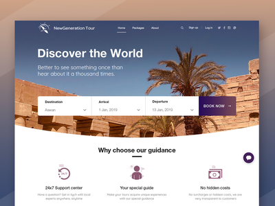 Tour Guide Landing Page - in Egypt