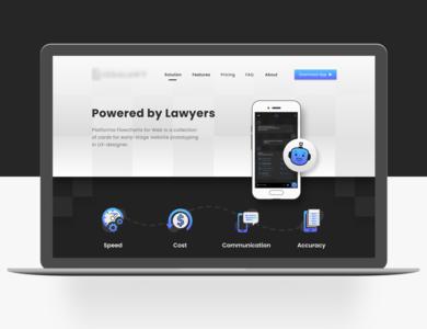 Legal App Landing Page