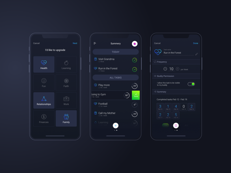 Priority Coach - UI Mobile App