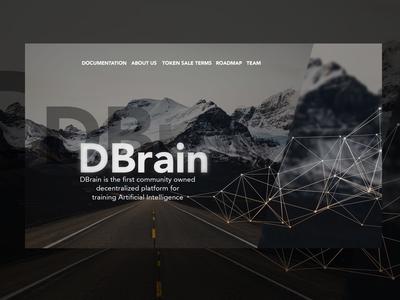 Dbrain start page UI
