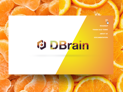 Dbrain start page UI orange uidesign webdesign ui