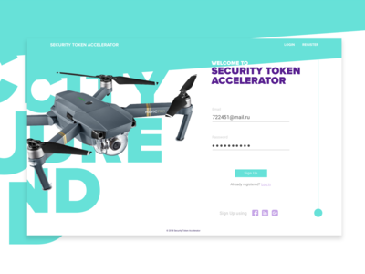 ICO sign up page