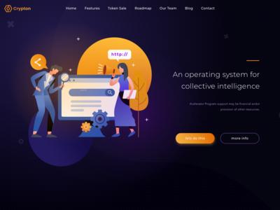 Landing page - ICO app