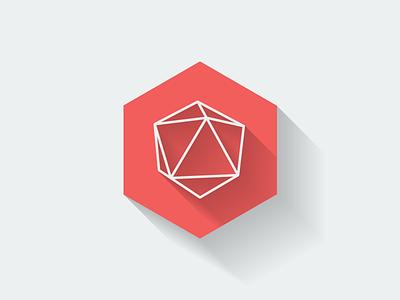 Flat Geo flat geometry geometrical icon logo shadow long shadow hexagon hex abstract shape polygon
