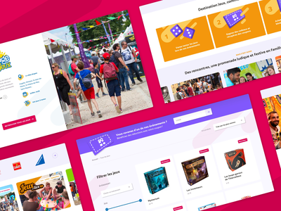 Destination Jeux — Overview overview board game games illustration branding event interface website ui design