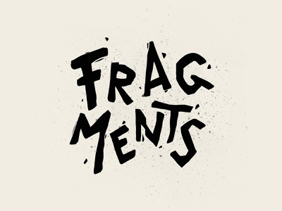 Fragments movie art movies movie instagram logo typography illustration graphic design design