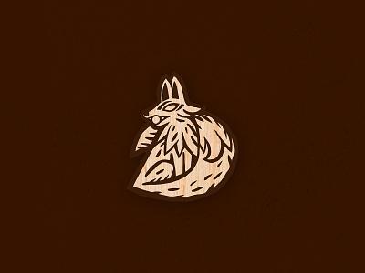 Inari — KAMI wooden pin wooden shinto japanese art japan japanese pin vector logo graphic design design illustration