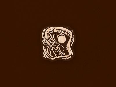 Ryujin — KAMI wooden pin wooden shinto japanese art japanese japan pin vector logo illustration graphic design design